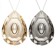 Buy John Lewis Boutique Glass Crystal Drops, Assorted, Black and Amber Online at johnlewis.com