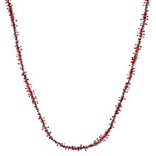 Buy John Lewis Star Tinsel, 7m, Burgundy Online at johnlewis.com