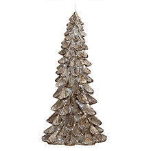Buy John Lewis Enchantment Christmas Tree Candle, Medium, Pewter Online at johnlewis.com