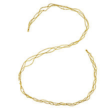 Buy John Lewis Bead Garland, 180cm, Gold Online at johnlewis.com