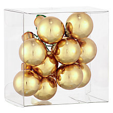 Buy John Lewis Mini Cluster Baubles, Gold Online at johnlewis.com