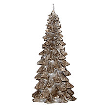 Buy John Lewis Enchantment Christmas Tree Candle, Small, Pewter Online at johnlewis.com