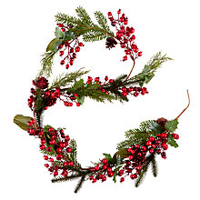 Buy John Lewis Midwinter Red Berry, Rosehip and Cone Garland Online at johnlewis.com