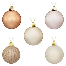 Buy John Lewis Enchantment Shatterproof Tree Baubles, Pack of 20 Online at johnlewis.com