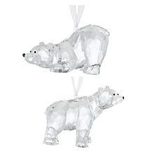 Buy John Lewis Snowdrift Acrylic Polar Bear Tree Decoration, Assorted Online at johnlewis.com