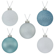 Buy John Lewis Snowdrift Shatterproof Baubles, Pack of 20, Multi Online at johnlewis.com
