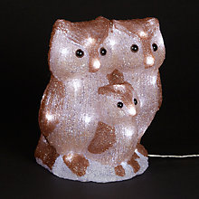Buy John Lewis Acrylic Owl Family Christmas Light Online at johnlewis.com
