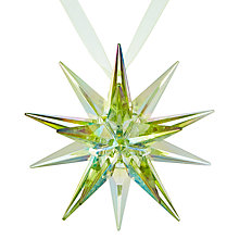 Buy John Lewis Different Perspective Acrylic Starburst Decoration, Green Online at johnlewis.com