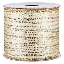 Buy John Lewis Spot and Stripe Ribbon, 3m, Cream and Gold Online at johnlewis.com