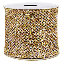 Buy John Lewis Mesh Wired Ribbon, 3m, Champagne Gold Online at johnlewis.com