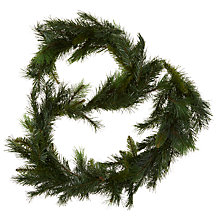 Buy John Lewis Mixed Green Garland, 6ft Online at johnlewis.com