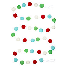 Buy John Lewis Pompom Garland Online at johnlewis.com