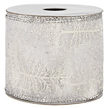 Buy John Lewis Organza Tree Wired Ribbon, 3m, Silver Online at johnlewis.com