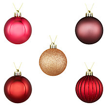Buy John Lewis Midwinter Shatterproof Baubles, Pack of 20, Multi Online at johnlewis.com