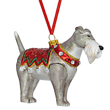 Buy John Lewis Glass Christmas Dog Bauble, Multi Online at johnlewis.com