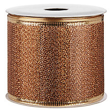 Buy John Lewis Wired Ribbon, 3m, Copper Online at johnlewis.com