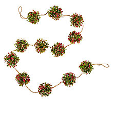 Buy John Lewis Midwinter Pre-Lit Berry Ball Garland, Red Online at johnlewis.com