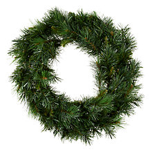 Buy John Lewis, Mixed Green Wreath, 60cm Online at johnlewis.com