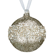 Buy John Lewis Enchantment Glass Beaded Bauble, Silver Online at johnlewis.com