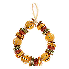 Buy Jormaepourri Midwinter Orange Festive Wreath Online at johnlewis.com