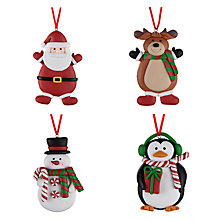 Buy John Lewis Claydough Christmas Characters, Pack of 4 Online at johnlewis.com