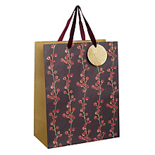 Buy John Lewis Midwinter Berry Stripe Gift Bag, Medium Online at johnlewis.com