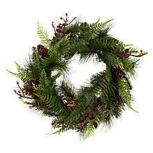 Buy John Lewis Midwinter Premium Fern & Pinecone Wreath Online at johnlewis.com
