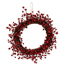 Buy John Lewis Midwinter Red Berry Wreath Online at johnlewis.com