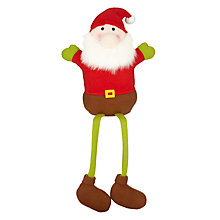 Buy John Lewis Sitting Felt Santa With Dangle Legs Online at johnlewis.com