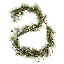 Buy John Lewis Snowdrift Snowbud Garland With Stars, 180cm Online at johnlewis.com