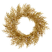 "Buy John Lewis Enchantment Gold Cypress Leaf Wreath, 18"" Online at johnlewis.com"