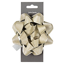Buy John Lewis Enchantment Large Glitter Bow, Champagne Online at johnlewis.com