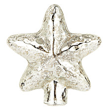 Buy John Lewis Enchantment Glass Star Tree Topper, Mercurised Online at johnlewis.com