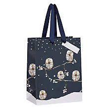 Buy John Lewis Snowdrift Midnight Owl Bag, Small Online at johnlewis.com