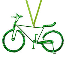 Buy John Lewis Different Perspective Metal Bicycle Tree Hanger, Green Online at johnlewis.com