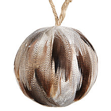 Buy John Lewis Midwinter Natural Feather Bauble Online at johnlewis.com