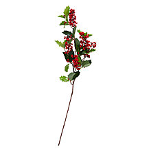 Buy John Lewis Ruskin House Red Berry & Holly Stem Online at johnlewis.com
