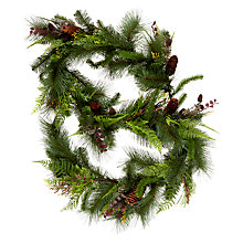 Buy John Lewis Midwinter Premium Fern and Pine Cone Garland Online at johnlewis.com