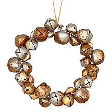 Buy John Lewis Midwinter Metal Bell Wreath, Silver and Gold Online at johnlewis.com