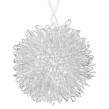 Buy John Lewis Different Perspective Silver Wire Bauble Online at johnlewis.com