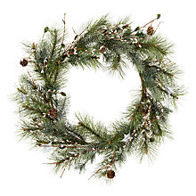 Buy John Lewis Snowdrift Snowbud Wreath With Stars, 60cm Online at johnlewis.com