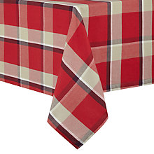 Buy John Lewis Tartan Tablecloth, L180 x W140cm Online at johnlewis.com