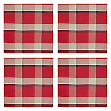 Buy John Lewis Tartan Check Napkin, Set of 4 Online at johnlewis.com