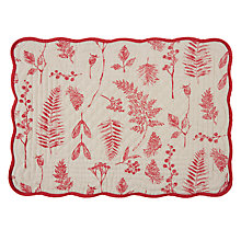 Buy John Lewis Midwinter Berries Placemat Online at johnlewis.com