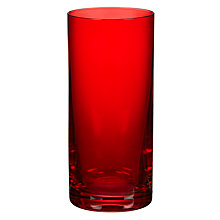 Buy John Lewis Red Highball Glass Online at johnlewis.com