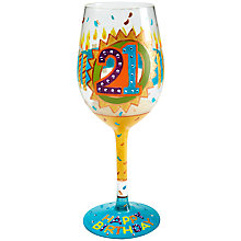 Buy Lolita 21st Birthday Wine Glass Online at johnlewis.com