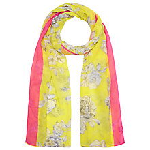 Buy Joules Wensley Floral Scarf, Lemon Online at johnlewis.com