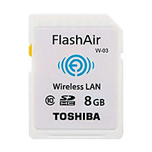 Buy Toshiba FlashAir W-03 Wireless Class 10 SDHC Memory Card, 8GB, 10MB/s Online at johnlewis.com