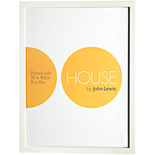 Buy House by John Lewis Basic Picture Frame, 30 x 40cm Online at johnlewis.com