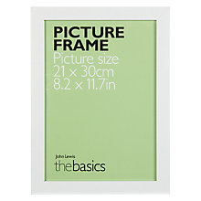Buy John Lewis The Basics Poplar Picture Frame, A4 Online at johnlewis.com